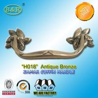Buy cheap Antique Brass Finish Metal Coffin Handles Zinc Alloy coffin handle H018 antique bronze size 20*7.5cm product