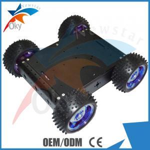 China RC Car Diy Robot Kit 4WD Drive Aluminum Electric Smart Car Robot Platform on sale