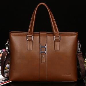 Quality Men's business bags Genuine Leather Portfolio Bag Shoulder bag for sale