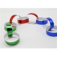Holographic Striped Christmas Paper , Gummed Paper Chains For Display SGS
