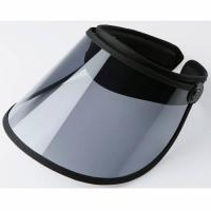 Quality Outdoor Transparent Sun Visor Caps , UV Protection Navy Blue Plastic Sun Visor Hats for sale