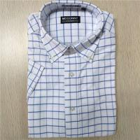 China Short Sleeve Stylish Casual Shirts Checks Style 100% Cotton Fabric Normal Thickness on sale