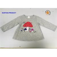 Buy Screen Print / Applique Children T Shirt Round Neck Infant Long Sleeve T Shirts at wholesale prices