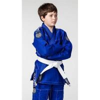 Buy Breathable Kids Blue jiu jitsu uniform / Martial Arts Clothes with White Belt at wholesale prices