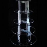 Quality Acrylic Round Display Cake Stand, It Can Be Detached for Easy Washing and Storing for sale