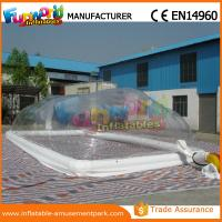 Buy cheap Customized Size Tramsparent Inflatable Swimming Pool Cover for Pool product