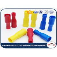 Quality FRD1.25 - 156 PVC insulating Wire Connectors Terminals Plug / Bullet Type Tinned Surface for sale
