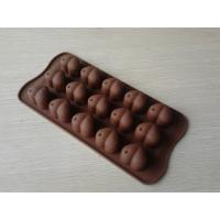 China Food-grade Heart Silicone Chocolate Mould , 15Hole Non-stick Silicon Ice Mould on sale