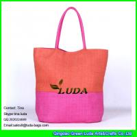 China LUDA online shopping professional factory custom beach bag stripe paper straw handbag on sale
