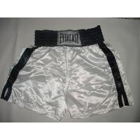 Quality Customized white mens boxing shorts for Training , competition for sale