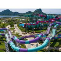 Quality Hotel Custom Water Slides , Swimming Pool Water Slides 10 Years Life Span for sale
