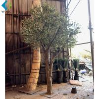 Green Leaves Artificial Olive Tree Various Style For Indoor Outdoor Ornament for sale