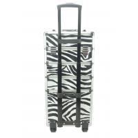 Quality 4 In 1 Aluminum Makeup Trolley Case in Zabra Color, Zabra Pro Makeup Case for sale