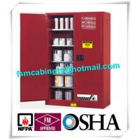 Vertical Combustible Paint Storage Cabinets With Adjustable Horizontal Shelves