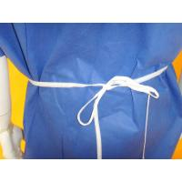 Quality Comfortable Non Woven Surgical Gown Flat Round Neck Style SMS PP Material for sale