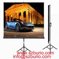 China Prime Quality 72 16:9 Tripod Portable Projection Screen HD Floor stand Bracket Projector Screen Matt White Factory Supp on sale
