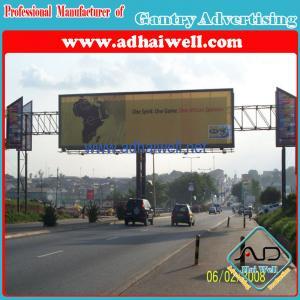 Gantry Spanning Advertising Billboard Sign Construction
