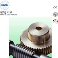 Quality Black Finished Carton Steel Metal Worm Crown Wheel Gear Turbo For Equipment ISO9000 for sale