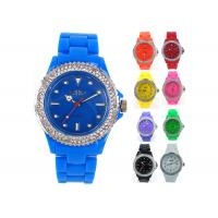 Buy cheap NY London Crystal Bezel Plastic Gents Ladies Summer Fashion Ice Silicone Watches product