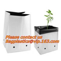 Quality Planters Biodegradable Garden Bags , Flower Plant Bags Plant Grow Nursery Poly Pots for sale
