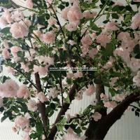 China Pink Standard Rose Artificial Flower Tree 2m Height Environmental Protection for sale