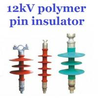 Quality Overhead Line Polymer Pin Insulator , 12kV Silicone Rubber Insulator Creepage 380mm for sale