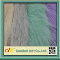 Quality 83% Acrylic 17% Polyester High Pile Faux Fur Fabric For Garment And Funiture for sale