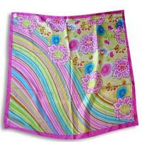 Quality 100% Silk Scarf with Printed Design for sale