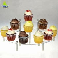 Quality 3 Tier Acrylic Cake Display Buffet Pastry Curate Acrylic Cupcake Dessert Tower for sale