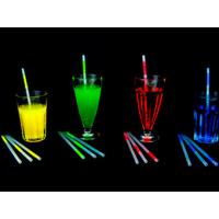 China 8 6.5 * 210mm Mini Glow / Fluorescence Stick Straw For Promotions, Giveaway, Carnivals on sale
