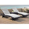 Buy cheap Outdoor garden sunbed lounge chair Modern PE Rattan wicker beach chair from wholesalers