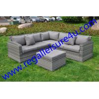 Buy outdoor garden durable grey rattan sofa set witn BSFR cushions RLF-2458SF at wholesale prices