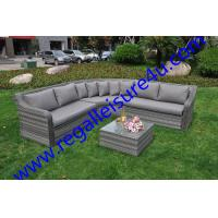 Buy outdoor garden durable grey rattan sofa set witn BSFR cushions RLF-2470SF at wholesale prices