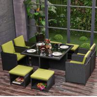 Quality Eco friendly Outdoor Rattan Garden Furniture Stool Chair Set for Patio, Outdoor, Garden, Balcony, Hotel, Restaurant for sale