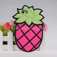 Quality 3D Pineapple With Chain Silicon Case For iPhone 5 for sale