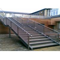 Quality Wear Resistance Stainless Steel Railing Smooth Surface No Sharp Edges / Corners for sale