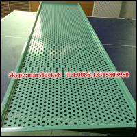 Quality bending aluminum perforated metal sheet for sale