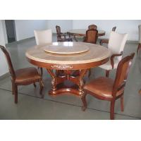 Quality Round Marble Luxury Dining Room Furniture Walnut Dining Table And Chairs for sale
