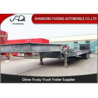 Quality 4 axles low bed semi trailer low loader 80 ton trucks and trailers for sale