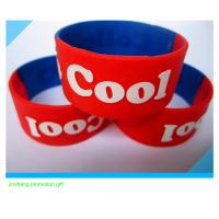 Quality 1inch embossed silicone wristband for sale