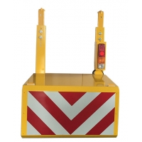 Buy cheap RemovableTraffic Yellow Portable Vehicle Barricades With Wheels from wholesalers