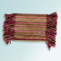 Quality 100% Acrylic Scarf with Multicolor Striped Design and 8cm Fringe for sale