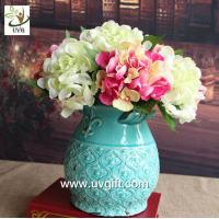 UVG FHY24 wedding decoration materials cheap artificial hydrangea flower for indoor use
