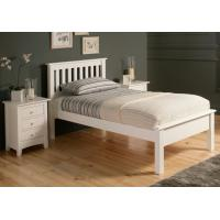 Quality Simple Gorgeous Wooden Queen Size Bed Frame , White Single Wooden Bed Frame With Mattress for sale