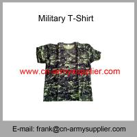 Quality Wholesale Cheap China Military Camouflage Cotton Round Collar Army T-Shirt for sale