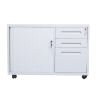 Quality 3 Drawer 34kgs 500mm Depth Tambour Storage Cabinet for sale