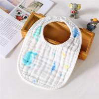 Quality Double Layers Classical Muslin Baby Bibs Absorbent Washable MBT 005 for sale