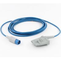 Buy cheap HP/Philips D-8Pin Spo2 Sensor Adult Soft Rubber Probe 3Mtr Blue Wire from wholesalers