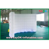China Led Lights White Inflatable Wall Inflatable Backdrop For Wedding Decoration on sale