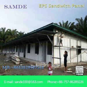 Prefab concrete houses heat resistant cement sandwich wall panel/ board